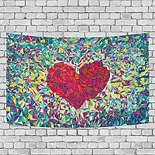Coosun Stücke von bunten Herzform Wandbehang