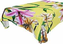COOSUN Tischdecke rechteckig mit Blumen für Hochzeit Urlaub, waschbar Polyester Tischdecke, 54x 54cm, Polyester, mehrfarbig, 60x90(in)