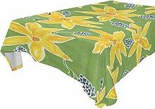 COOSUN Tischdecke rechteckig mit Blumen für Hochzeit Urlaub, waschbar Polyester Tischdecke, 54x 54cm, Polyester, mehrfarbig, 60x60(in)