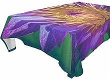 COOSUN Tischdecke rechteckig mit Blumen für
