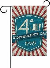 COOSUN Unabhängigkeitstag Schild blau Polyester