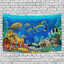 coosun Unterwasserwelt Fische Tiere Wandbild