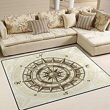 coosun Vintage Kompass Bereich Teppich Teppich
