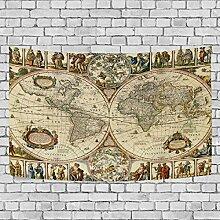 coosun Vintage Weltkarte Wand aufhängen