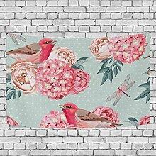 coosun Vögel und Blumen nahtlos _ Vintage