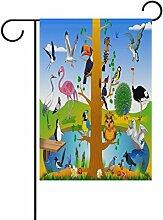 COOSUN Vogel Königreich Polyester Garten Flagge