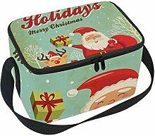 COOSUN Weihnachtsmann und Rentiere Insulated Lunch