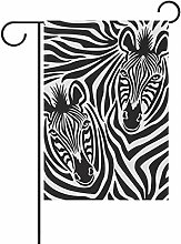 coosun Zebra Paar Polyester Garten-Flagge im