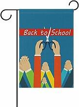 COOSUN Zurück zu Schule Polyester Garten Flagge