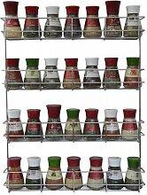 COPA Design 4 Etagen Kräuter- und Gewürzregal   Spice Organizer Wand montieren oder Küche Schrank Aufbewahrung (einfach zu installieren)   Messungen: (bxdxh): 500 x 66 x 405 mm   integrierte Gewürzregal für 4 x 8 Töpfe
