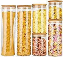 Copdrel Vorratsdosen aus Glas, mit luftdichtem