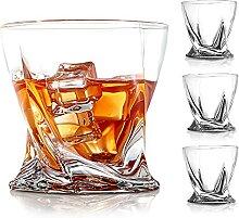 COPLIB Whiskey-Gläser-Set, 4 Stück, 325 ml,