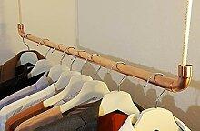 copotac Kleiderstange aus Kupfer und Baumwollseil
