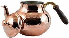 CopperBull Teekanne, gehämmert, dickstes Kupfer,