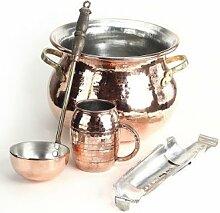 CopperGarden® SET ❀ Feuerzangenbowle aus Kupfer
