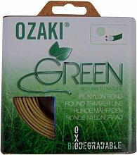 Coque Fil Ozaki GREEN Biodégradable Rond Diamètre (mm): 2.4 - Longueur (M): 15 - Herbes épaisses
