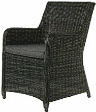COR Mulder–Outdoor-Stuhl, aus Polyratten grau Nizza