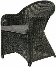 COR Mulder–Outdoor-Stuhl, geflochten grau Nizza