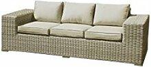 COR Mulder–Sofa Outdoor aus Polyratten beige Nizza