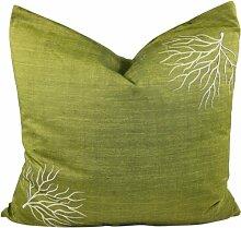 Coral Kissenhülle - grün / Retro Kissenhüllen