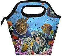 Coral Reef Fish Sea Turtle Lunchbox Handtasche