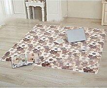 Coral Samt Teppich Matten, Wohnzimmer Schlafzimmer Teppiche, Bett Kissen Tatami Teppiche , #1 , 40*60cm