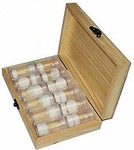 CoralStore Aufbewahrungsbox aus Holz mit 12