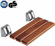 Coram proMed Serie 200 Holz-Duschklappsitz Chrom