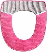 Cord + PU Badezimmer Displayschutzfolie Closestool Wärmer alle Form WC Deckel Sitz Deckel Pad hot pink
