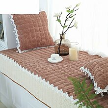 Cord window mat/verdicken sie,schlafzimmer,fensterbank-pad/einfache und moderne sofakissen/solid color window mat-G 90x160cm(35x63inch)