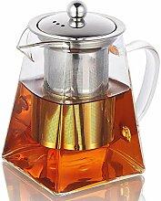 CoreLife Teekanne aus Glas mit Teesieb und