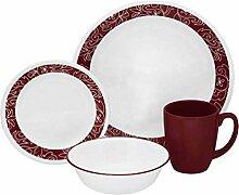 Corelle Geschirr-Set Bandhani aus Vitrelle-Glas