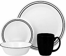 Corelle Geschirr-Set Brilliant Black Beads aus