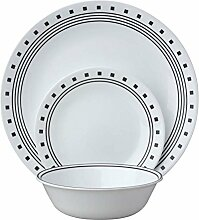 Corelle Geschirr-Set City Block aus Vitrelle-Glas