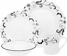 Corelle Geschirr-Set Faenza aus Vitrelle-Glas für