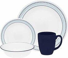 Corelle Geschirr-Set Folk Stitch aus Vitrelle-Glas