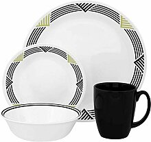 Corelle Geschirr-Set Global Stripes aus