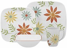 Corelle Geschirr-Set Happy Days aus Vitrelle-Glas