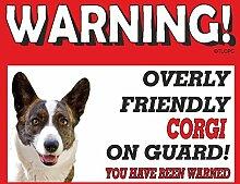 Corgi (Cardigan) Guard Dog Metall Schild 80