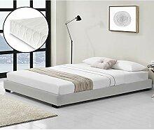 Corium Kunstlederbett mit Kaltschaum-Matratze und