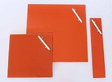CORKLINE GLAS MAGNETTAFEL orange 35x35 NEU