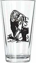 corkology Gorilla Pint-Glas, transparen