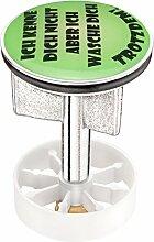 Cornat SA1010 Waschbecken - Stöpsel Motiv WASCH DICH