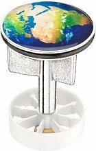 Cornat SA1022 Waschbecken - Stöpsel Motiv EARTH