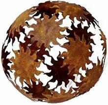 Cornbay Dekokugel Sonnen Metall braun D 22 cm