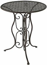 Cornbay Gartentisch Tisch Metall Rund Braun D =