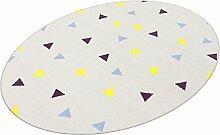 Corner grau HEVO® Teppich | Spielteppich | Kinderteppich 125x195 cm Ellipse