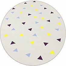 Corner grau HEVO® Teppich | Spielteppich | Kinderteppich 200 cm Ø Rund
