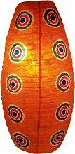Corona Papierlampenschirm Retro / Papierlampenschirme oval