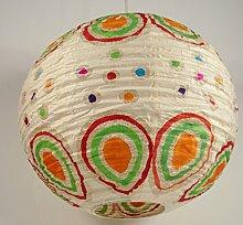 Corona round funny 35 cm, Papierlampenschirm / Papierlampenschirme kugelförmig